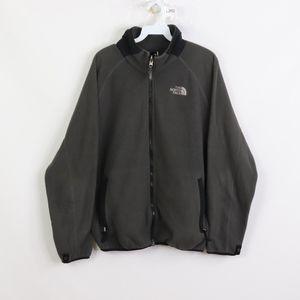 90s North Face Mens Medium Spell Out Fleece Jacket